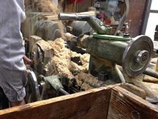 挽物 木の粉